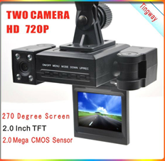 HD  2 Camera Car DVR